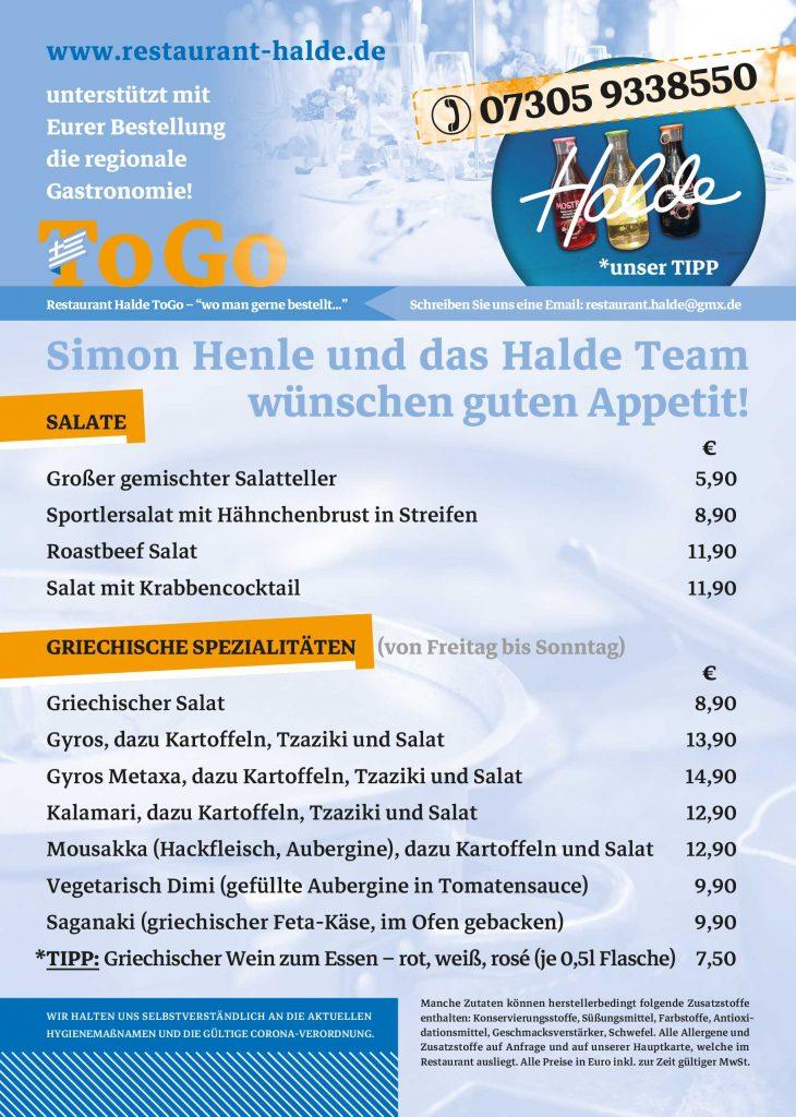 HaldeToGo Lieferkarte Seite 2